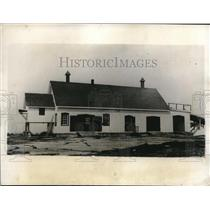 1930 Press Photo Greely Island pump house is used as a hangar for Junkers plane