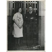 1932 Press Photo Mr. and Mrs. Powers Hapgood in their serious mood