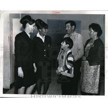 Press Photo Brenda Horn, Bessie Smith, Mr & Mrs Thomas Mitchell & Thomas, Jr