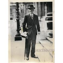 1931 Press Photo Samuel Hoare, secretary of India as he arrives at Downing