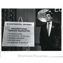 1980 Press Photo Edward Danberry, an executive with Continental Airlines