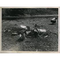 1948 Press Photo Plane Wreck