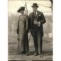 1923 Press Photo Mr. and Mrs. Lundh, Commercial Attache of Norwegian delegation