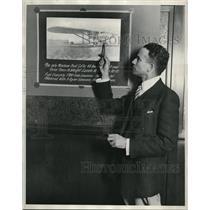 1929 Media Photo Jean Francis de Villard, pioneer pilot