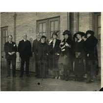 1921 Press Photo Woodrow Wilson Foundation Meeting, Robert W Woolley, Louis Post