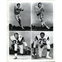 Press Photo Jerry Levias, Alvin Reed, Merlin Olsen, and David Jones - nes19875