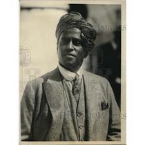 1925 Press Photo Rajah Sahib Zamindar of Palayampatty of Madura Visits U.S.