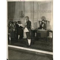 1926 Press Photo Re-enacting the signing of Declaration of Independence