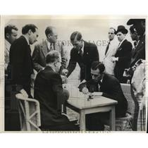 1932 Press Photo Alberto Zorilla, Juan Carlos Zabala, Carmalo Robledo and team