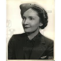 1936 Press Photo American Airlines stewardess May T Bobuck