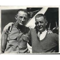 1929 Press Photo Endurance Pilots H.R. Reitz, Byron Newcomb - nex12479