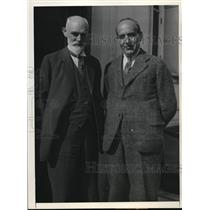 1932 Press Photo astronomers Dr William DeSitter, Dr. Spencer Jones in Pasadena