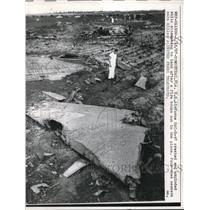 1957 Press Photo U.S.Airforce SAC-B-47 crashed and exploded, Homestead,FL.
