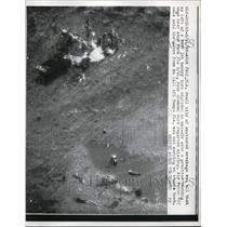 1968 Press Photo Avon Park Florida B-4V Jet Bomber Crash Site US Air Force