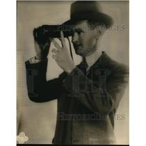 1929 Press Photo Clem McCarthy racing authority & broadcaster