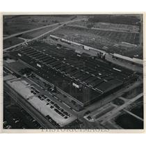 1947 Press Photo Goodyear Aircraft Corporation Plant/Factory, Akron Ohio