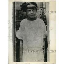 1929 Press Photo Alice Labutis, kidnap victim of Curtis S. Devonshire.