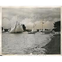 1927 Press Photo View of Royal Norfolk and Suffolk Yacht Club Reggatta