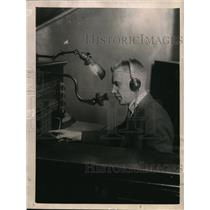 1922 Press Photo David Hobb, Blind Telephone Operator