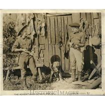 "1921 Press Photo Actor William & Robert Bradbury in ""Adventures of Bob and Bill"""