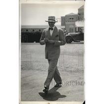 1931 Press Photo Mr. Charles A. Davilla At Bailey's Beach, Newport Rhode Island
