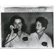 1959 Press Photo Pilot Aileen Saunders and co-Pilot Jere Cassel
