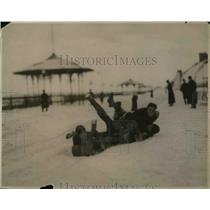 1920 Press Photo Coaster sleds at winter sports carnival