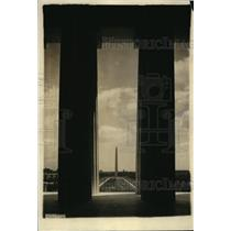 1922 Press Photo Washington monument seen from Lincoln Memorial in DC