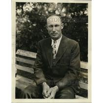 1930 Press Photo Sam Rice of Washington