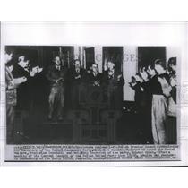 1920 Press Photo Warsaw Poland Spectators applaud Polish Premier Joseph