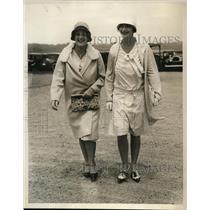 1929 Press Photo Virginia McIntosh and Florence Nicholl Of Fashionable Society