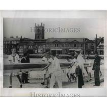 1930 Press Photo Harvard Crew at Grand Challenge Cup at Royal Regatta  at Henley