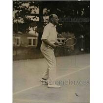 1920 Press Photo British Amb Sir Auckland Geddes playing tennis