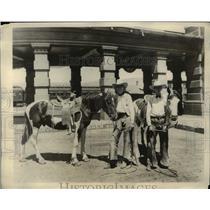 1930 Press Photo Archibald Gardiner Ralph Allen Win Dude Ranch Trips Montana