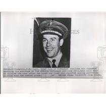 54 Press Photo Captain Peter Dana reports spotting wreckage of missing Airline