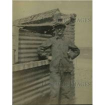 1921 Press Photo Whiting Williams as Miner in France