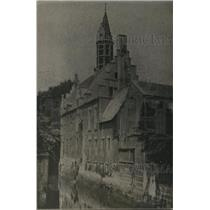 1918 Press Photo Malines City Belgium Hotel Rue De L'Ecouste