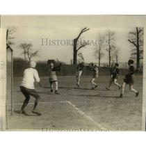 1928 Press Photo NY Lacrosse club at Castel Point field