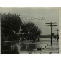 1923 Press Photo Flood in Lincoln Nebraska kills 18