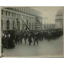 1920 Press Photo Wash DC parade of Hungarian delegation supporters
