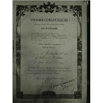 1922 Press Photo Certificate from Italian Govt for US Unknown Soldier