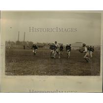 1928 Press Photo Lacrosse game of Yale vs Harvard in Cambridge Mass