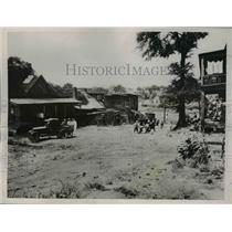 1926 Press Photo Slum area in Atlanta before cleaned out by the Housing Div. PWA