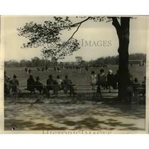 1928 Press Photo Princeton NJ la crosse match Univ of Md vs Princeton