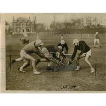 1922 Press Photo Stevens Institute vs NYU at lacrosse match