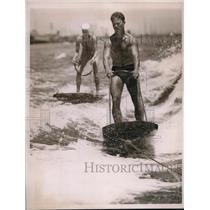1936 Press Photo Audrey Norman Practice Run For Aquaplane Race
