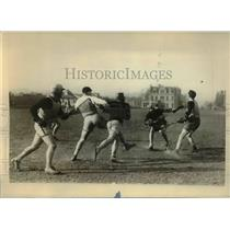 1928 Press Photo NY La Crosse club at Castle Poinbt fileld