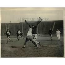 1925 Press Photo Cornell vs Penn at lacrosse match in Philadelphia Pa