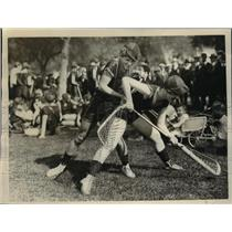 1926 Press Photo La crosse match Hurons vs Iriquois in Calif