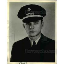 1938 Press Photo Joshua T Winstead Jr pilot with American Airlines